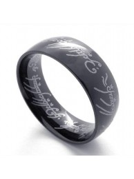 Кольцо Всевластия Lord of the Rings чёрное 8мм