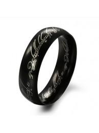 Кольцо Всевластия Lord of the Rings чёрное