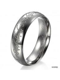 Кольцо Всевластия Lord of the Rings с гравировкой посеребрёное