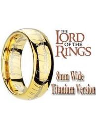 Кольцо Всевластия Lord of the Rings позолоченное 8мм