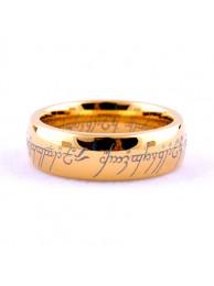 Кольцо Всевластия Lord of the Rings позолоченное