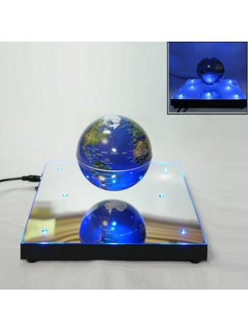 Глобус электромагнитный на зеркальной подставке с подсветкой